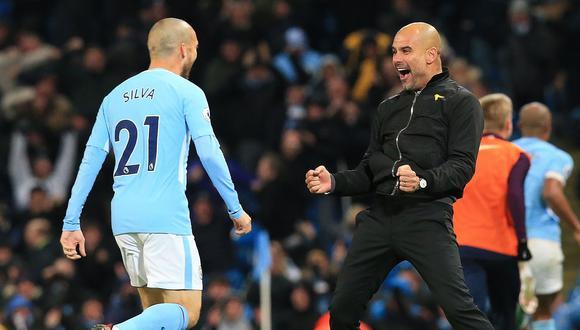 Guardiola elogió a David Silva. (Foto: AFP)