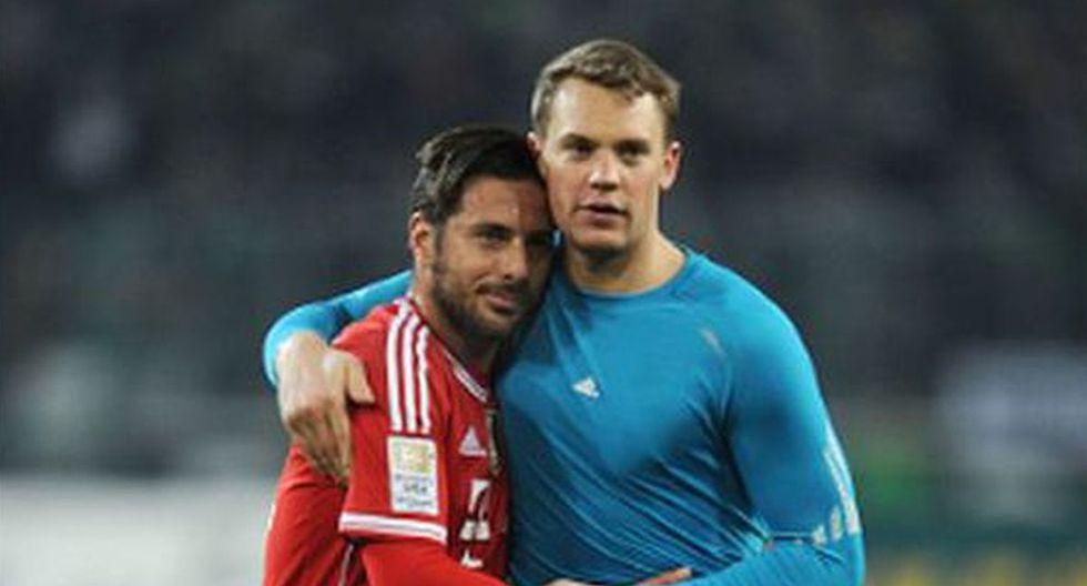 Claudio Pizarro con Manuel Neuer en Bayern Munich. (Foto: Difusión)