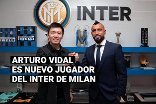 Arturo Vidal fue presentado como nuevo jugador del Inter de Milán
