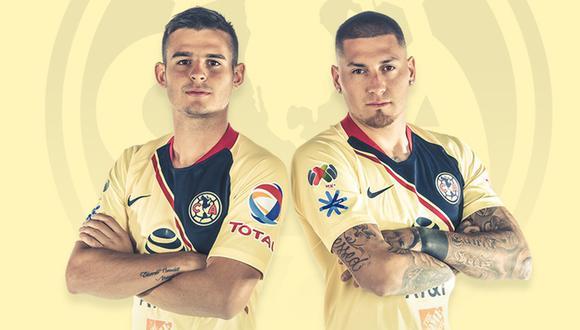 Nicolás Castillo y Nicolás Benedetti no pudieron viajar a Sudamérica para pasar la cuarentena con sus familias. (Foto: Club América)
