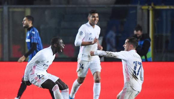 Ferland Mendy marcó el único gol del Real Madrid ante Atalanta. (AP)