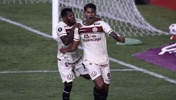 Enzo Gutiérrez anotó el empate 2-2 de Unviersitario ante Palmeiras. (Foto: GEC)