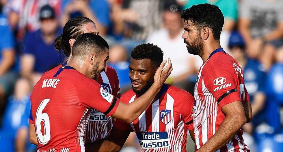 Atlético de Madrid recuperó el rumbo en la Liga Santander al ganarle el Getafe. (Fotos: Agencias)