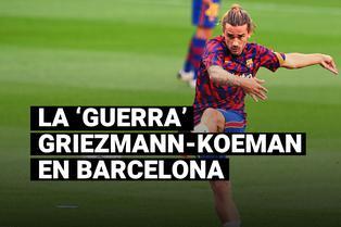 Griezmann y su conflicto con Koeman que lo dejó en la banca de suplentes