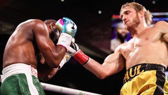 Floyd Mayweather empató contra Logan Paul en la pelea de exhibición en Miami. (Showtime)