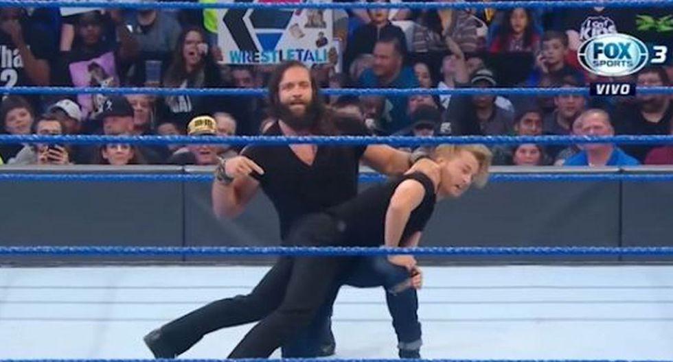 Elias humilló a Drake Maverick en el show azul. (Foto: WWE)