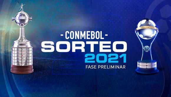 Sigue el sorteo de la Copa Libertadores 2021 y la Copa Sudamericana 2021. (Foto: Conmebol)