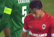 Iba a ser un debut soñado: el gol que perdió Cristian Benavente en su estreno con Antwerp en Europa League [VIDEO]