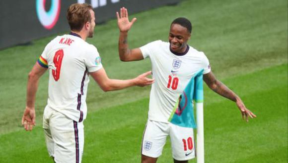 Harry Kane y Raheem Sterling fueron figuras de Inglaterra en la Eurocopa 2020. (Foto: Getty Images)