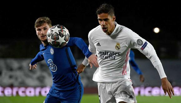 Raphael Varane es duda en Real Madrid para el partido ante Chelsea. (Foto: AFP)
