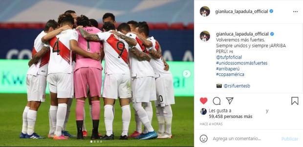 El mensaje de Gianluca Lapadula luego de conseguir el cuarto lugar de Copa América. (Captura: Instagram)