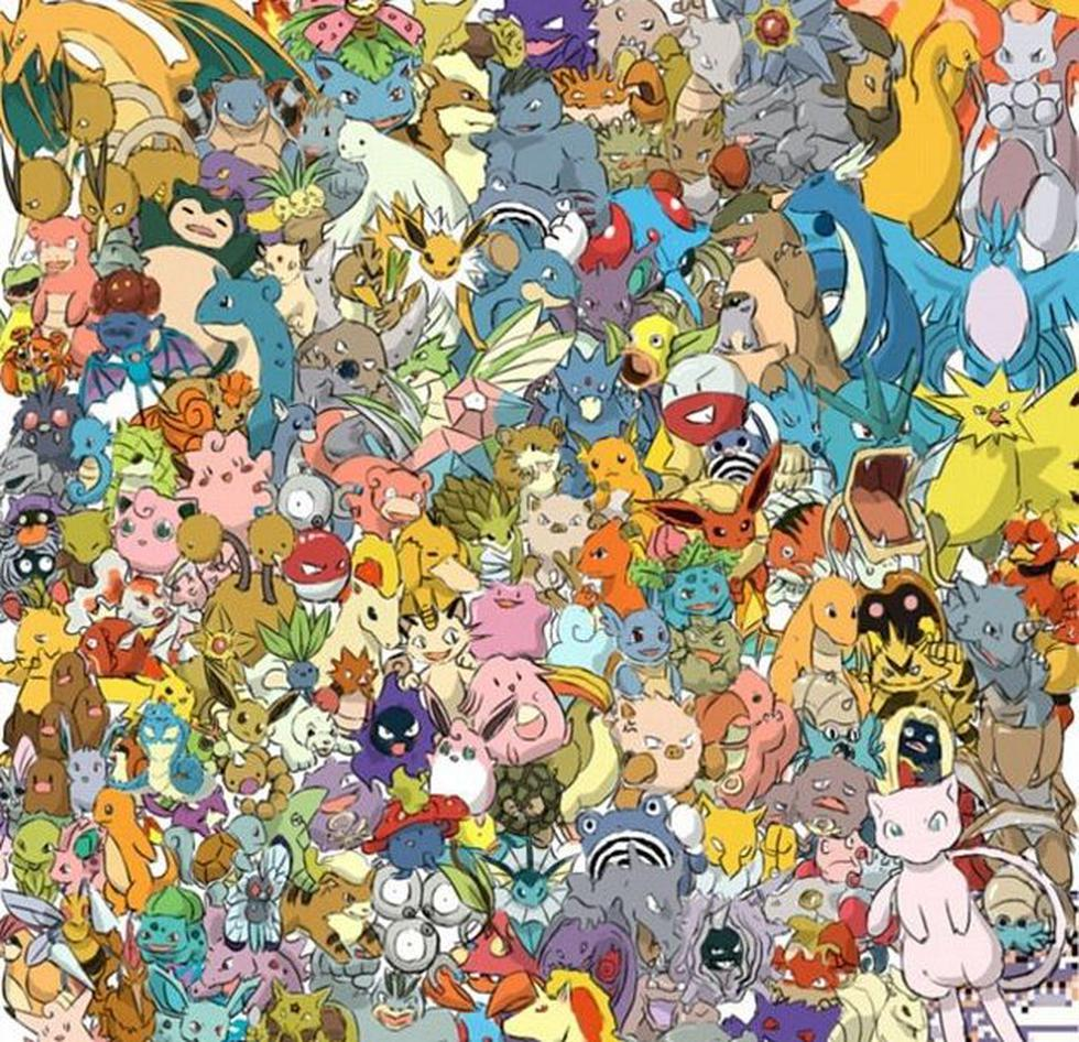 Ubica ya mismo al Caterpie entre todos los Pokemon de este desafío visual. (Fotos: Milenio)