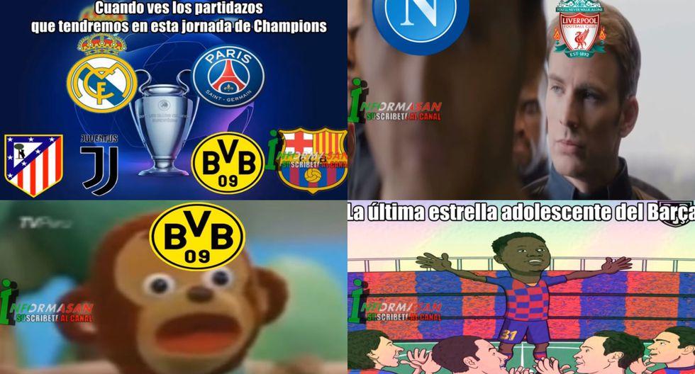 ¡Barcelona es protagonista! Los mejores memes del primer día de la Champions League 2019-20 [FOTOS]