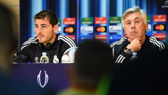 Casillas ganó una Champions con Ancelotti como DT del Real Madrid. (Getty)