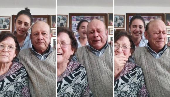 Macarena suele grabar muchos videos al lado de sus abuelitos. (Foto: @maki.rivasfernandez | TikTok)