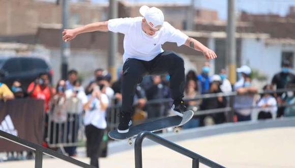 Ángelo Caro ocupó el quinto puesto en Skate en Tokio 2020. (Foto: Agencias)