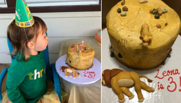 Una niña sorprendió en Internet al pedir una singular tarta de cumpleaños para no compartirla con nadie. (Foto: @caseyfeigh / Twitter)