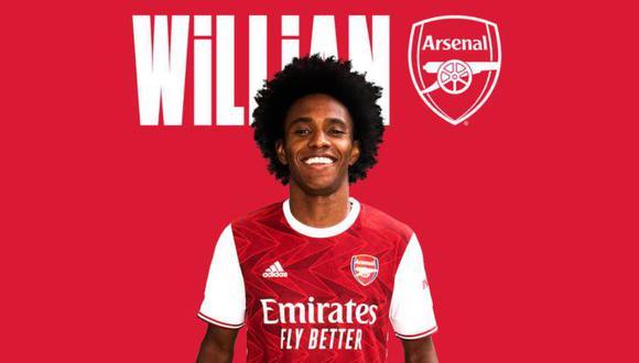 Willian llega procedente del Chelsea, donde jugó los últimos 7 años. (Foto: Arsenal)