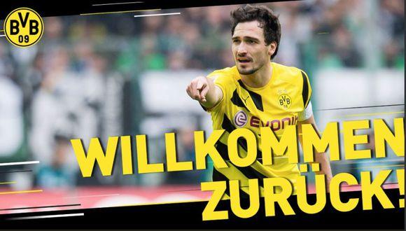 Mats Hummels retorna a Borussia Dortmund hasta el 2022. (@BVB)