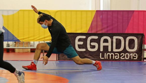 Luchador peruano entrena en la VIDENA de cara a sus primeros Juegos Olímpicos. (Foto: Legado Lima 2019)