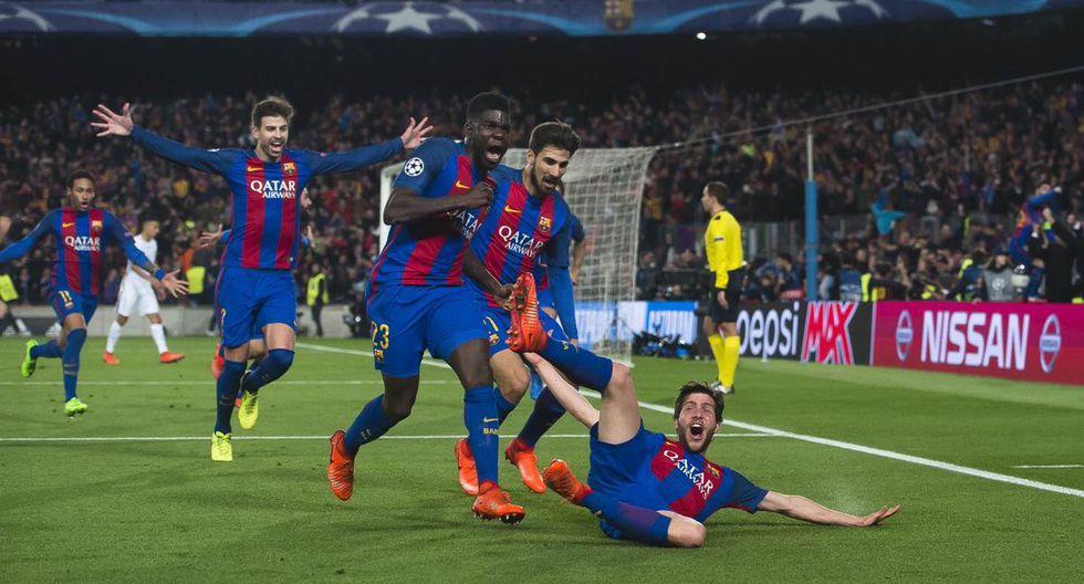 La celebración tras el tanto de Sergi Roberto. (Internet)