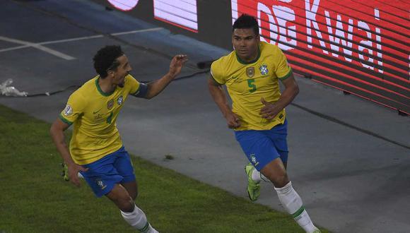 Brasil sumó su tercera victoria consecutiva en la Copa América y se mantiene como líder en solitario de la Copa América 2021. | Foto: AFP