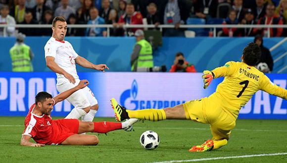 Suiza venció a 2-1 Serbia: revive los goles Granit Xhaka y Xherdan Shaqiri. (Getty Images)