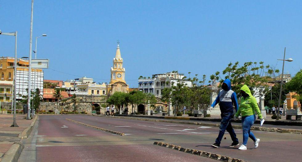 Así luce Cartagena con las medidas tomadas por Iván Duque en el país. (AFP)