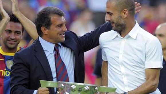 Guardiola fue fichado por Joan Laporta para el Barcelona en 2008. (Foto: FCB)
