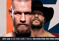 FOX Action EN VIVO McGregor vs. Cerrone EN DIRECTO: VER incidencias del esperado retorno de 'The Notorious' al UFC 246, desde Las Vengas, en Nevada