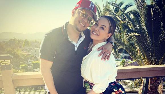 'Chiquis' Rivera y Lorenzo Méndez fueron captados juntos en California tras admitir que estaban en una crisis matrimonial. (@lorenzomendez7).