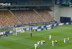 Gol de Benzema para el 1-0: así se abrió el marcador de Real Madrid vs. Cádiz [VIDEO]