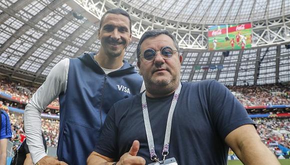 Mino Raiola es representante de futbolistas como Zlatan Ibrahimovic y Erling Haaland. (Getty)