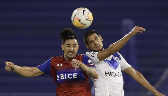 Zampedri anotó el 1-0 en el Vélez vs. Católica por Copa Sudamericana. (Foto: AFP)