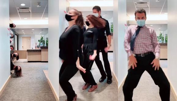 Un video viral muestra la celebración de una joven instructora de baile al volver a su centro de labores con sus compañeros en Estados Unidos.   Crédito: sashasashkasasha / TikTok.