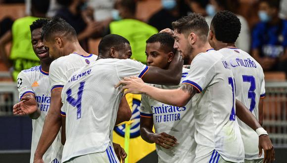 Real Madrid venció al Inter por la Champions League, en la primera fecha del Grupo D. (Foto: AFP).
