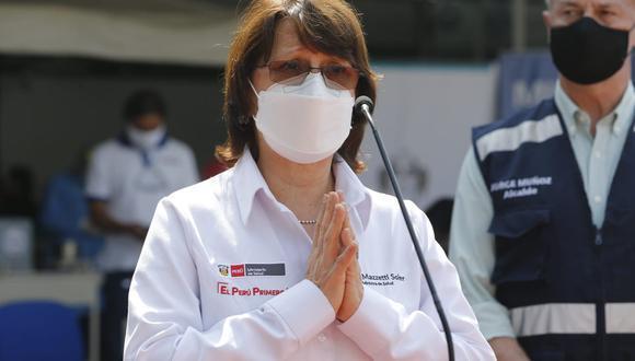 Ministra de Salud dice que hay negociaciones con laboratorios, pero no precisa cuándo llega vacuna al país. (Foto: Presidencia)