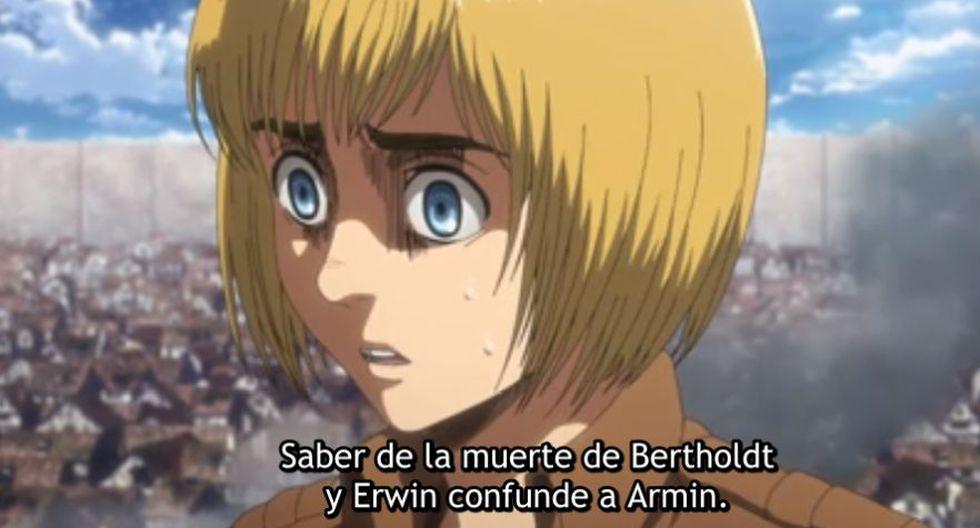 Armin ahora es el Titán Colosal (Foto: Attack on Titan / Crunchyroll)