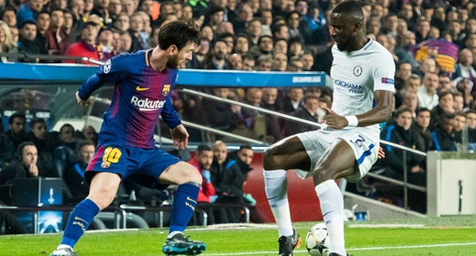 Lionel Messi y Antonio Rudiger se enfrentaron por la Champions League. (Foto: Getty Images)