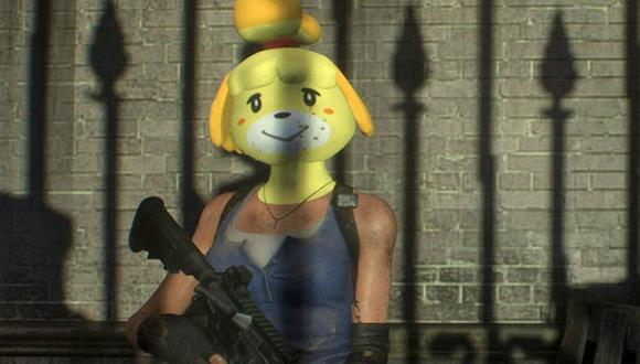 Resident Evil 3 Remake: modder introduce a Canela, personaje de 'Animal Crossing: New Horizons', al videojuego.