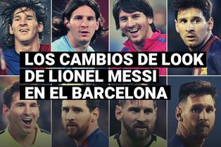 Todos los cambios de looks de Leo Messi a lo largo de su carrera