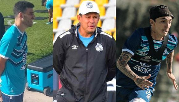 Cuesta Reynoso y Fernández juntos en Puebla. (Foto: Prensa Puebla)