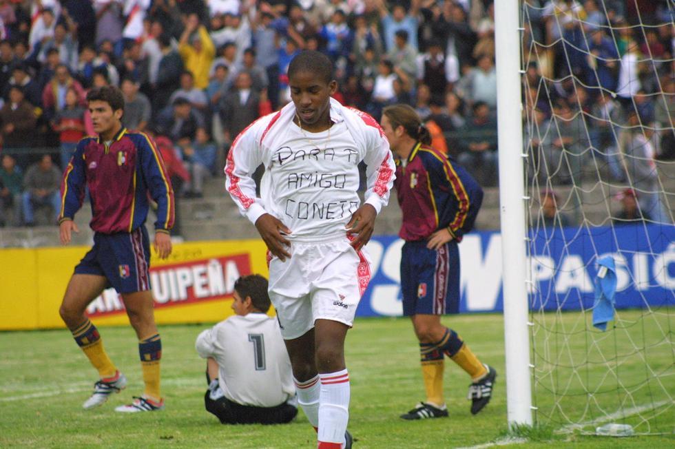 El 8 de marzo del 2001, Farfán le anotó un póker de goles a la selección de Venezuela en el triunfo 5- 2 por el campeonato sudamericano Sub 17 desarrollado en Arequipa. (Foto GEC Archivo)