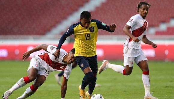 Gonzalo Plata anotó el descuento en el 2-1 de Perú vs. Ecuador por Eliminatorias rumbo a Qatar 2022. (Foto: EFE)