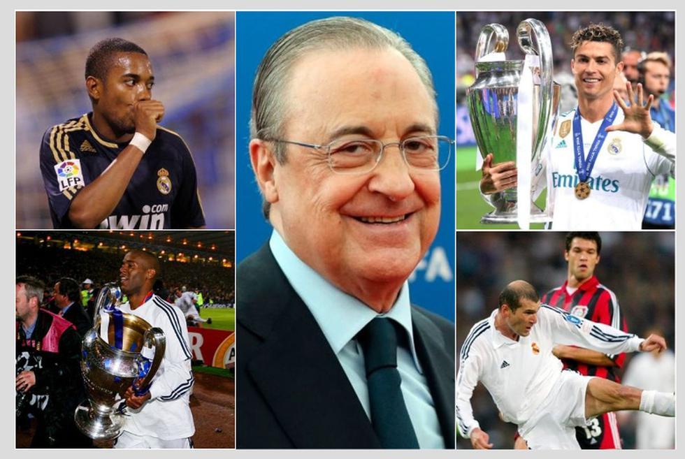 Los fichajes de Florentino en todos sus años como presidente del Real Madrid.