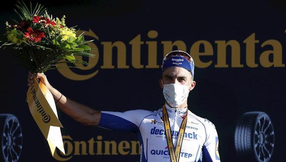 Julian Alaphilippe se coronó en la segunda etapa del Tour de Francia. (Foto: EFE)