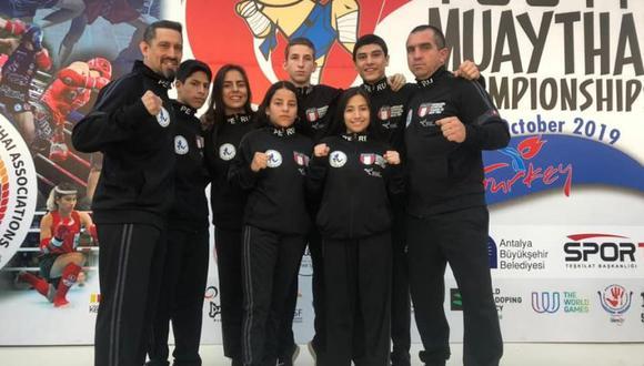 El equipo peruano de muay thai que competirá en Turquía. (FOTO: FDPM)