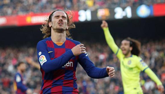 Antoine Griezmann anotó nueve goles con en su primera temporada con el Barcelona en LaLiga Santander. (Foto: Reuters)