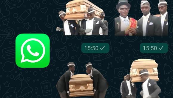 """¿Quieres descargar los stickers de los """"africanos bailando con ataúd"""" en tu WhatsApp? Conoce el método para obtenerlos gratis. (Foto: WhatsApp)"""