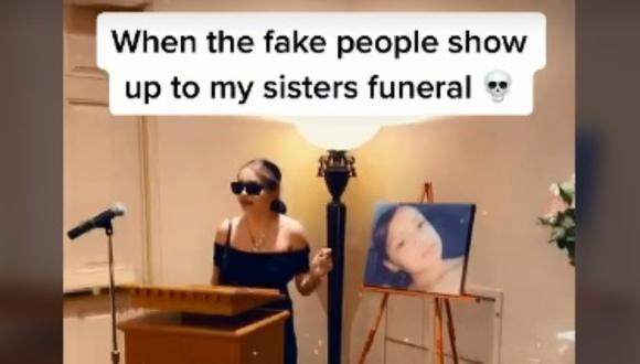"""""""Eres una falsa"""": expulsa del funeral de su hermana a una de las invitadas y el video se vuelve viral. (Foto: @jazzklassykushco)"""
